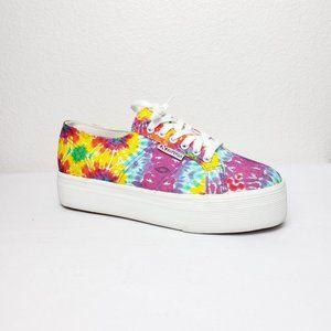 NEW Superga Tie Dye Platform Sneaker Multi 8.5